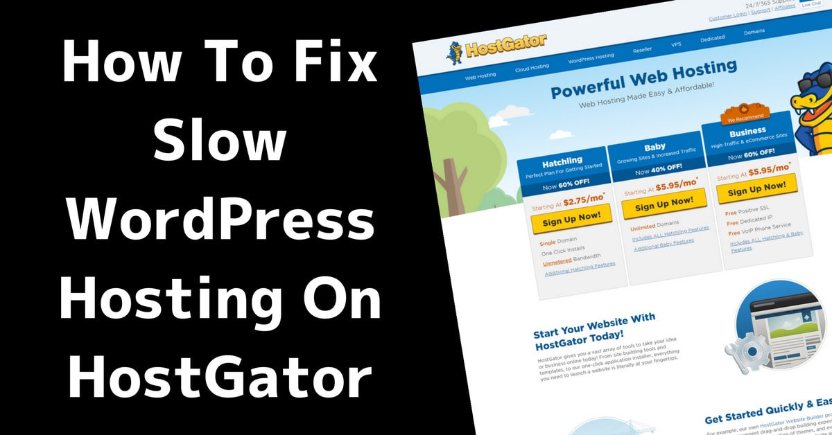 The SUPER SIMPLE Guide to Fixing a Slow Website on Hostgator hosting