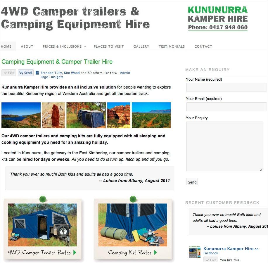 Camping Equipment Hire Kununurra - KKH