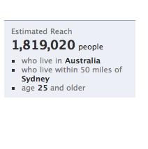 sydney-facebook-users