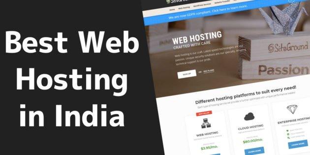 Best Web Hosting in India 1 2020