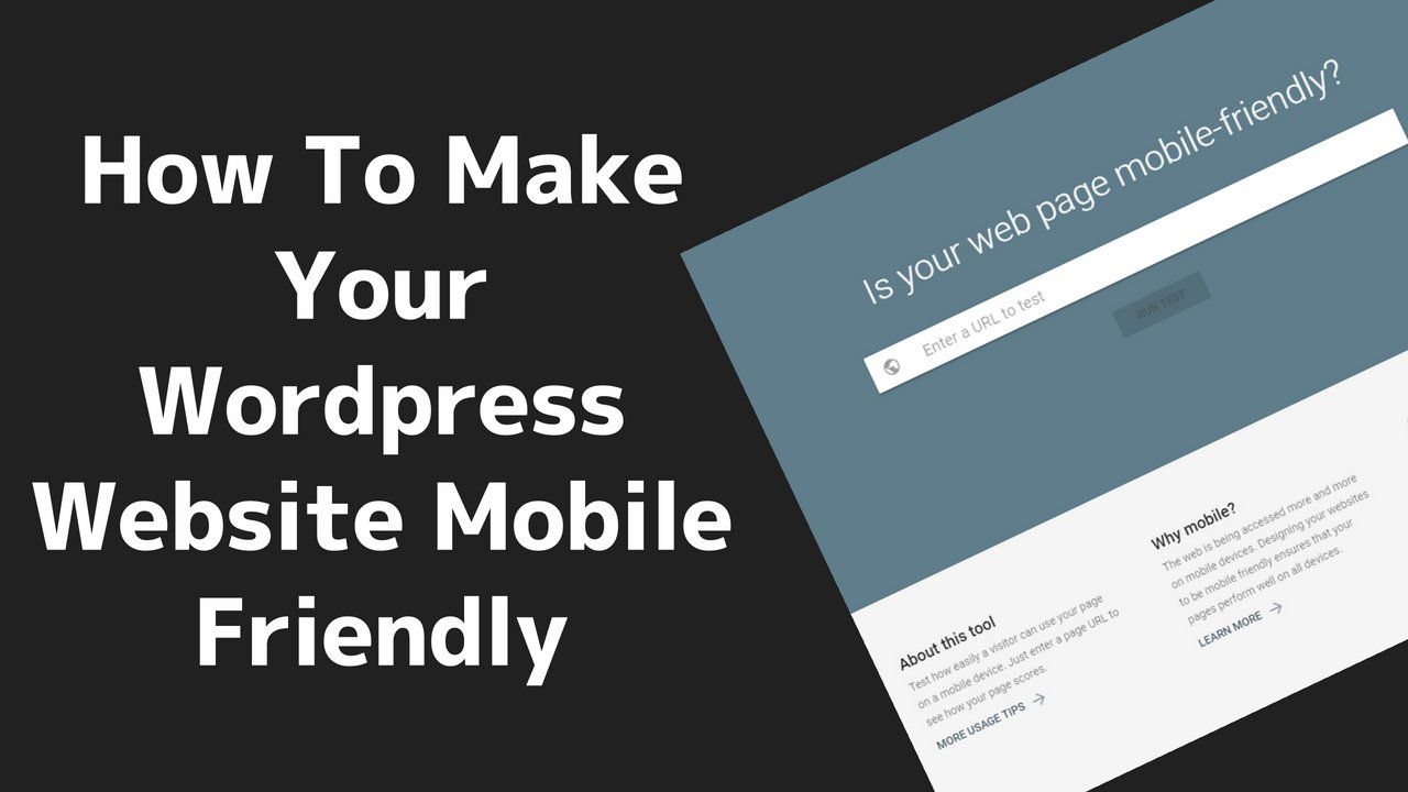 How to Make your WordPress Website Mobile-Friendly 10 2020