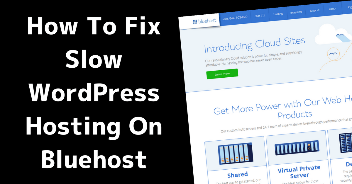 Fixing Slow Bluehost Websites