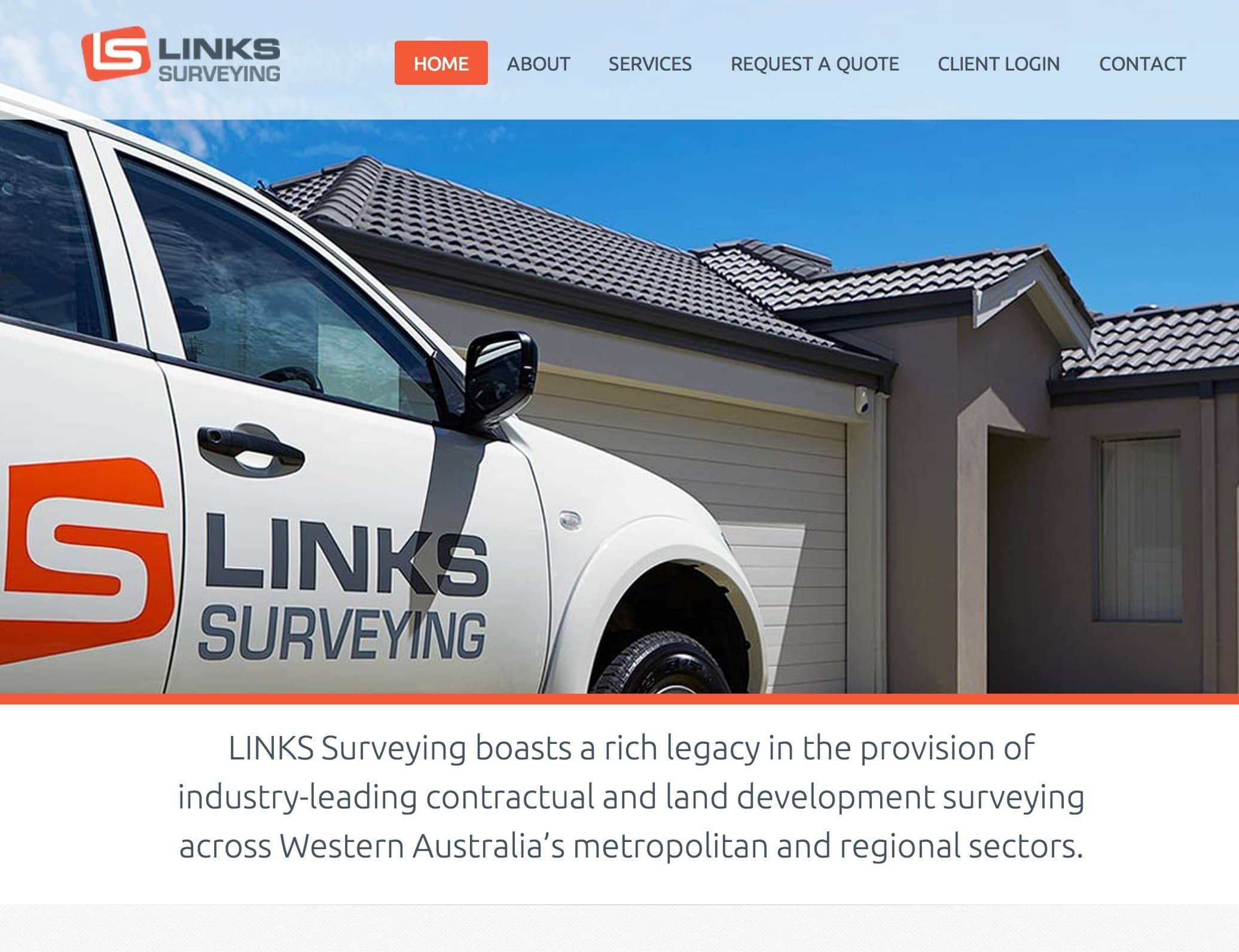 Small Business Web Design Links Surveying Perth