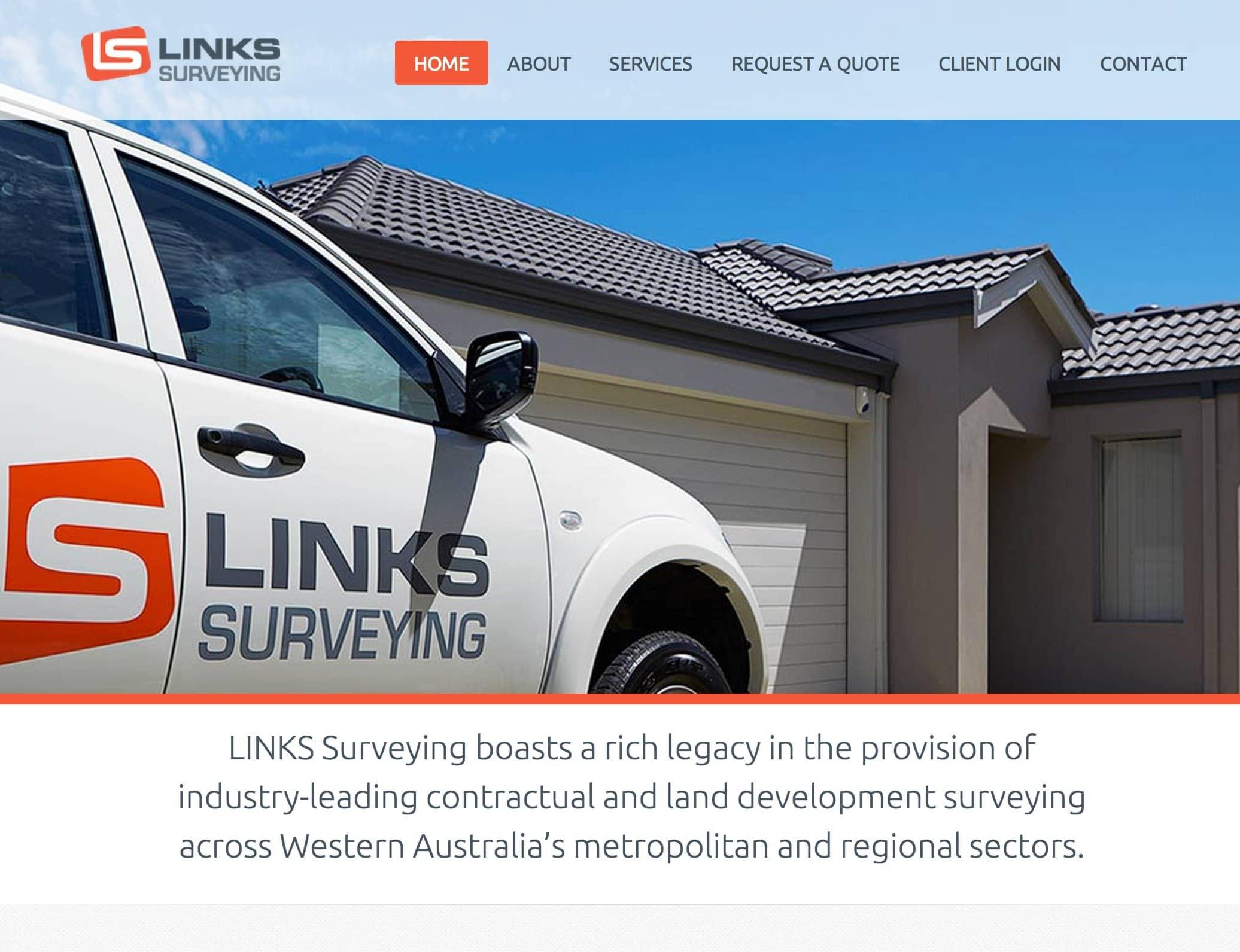 Links Surveying new website