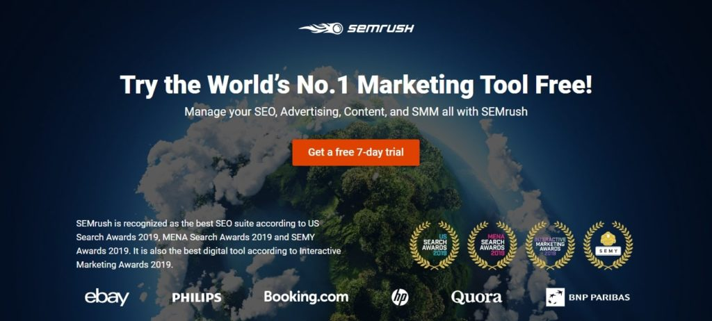 Semrush marketing platform & local SEO tool