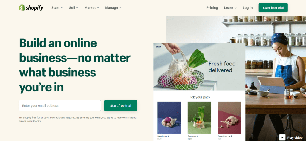 Shopify is probably the best ecommerce platform to start with