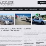 WordPress Small Business Website – Quicksilver Limousines
