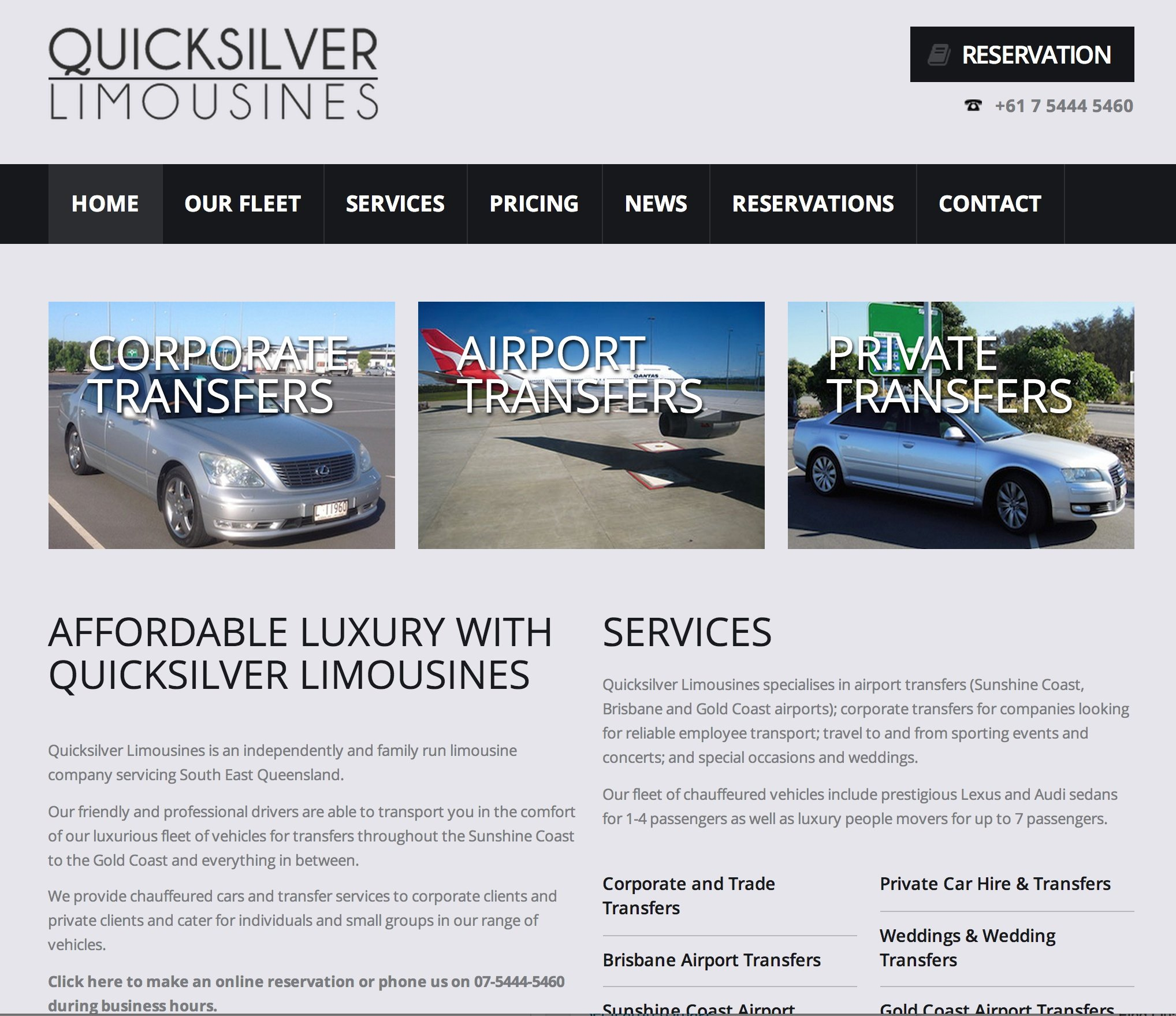Quicksilver Limousines - before