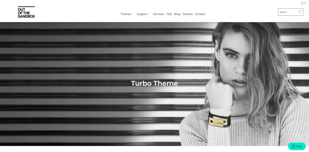 Turbo's landing page