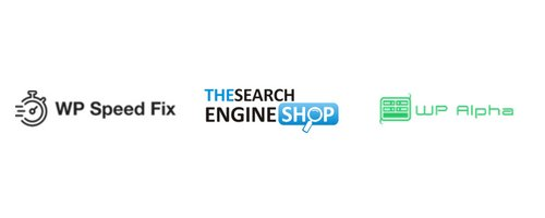WPSPeedfix and The Search Engine Shop Logos
