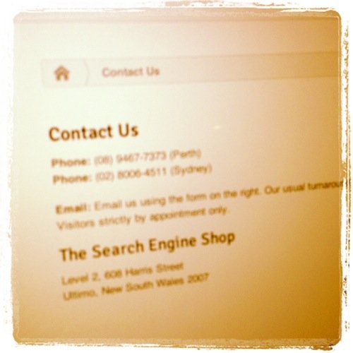 Contact Us Page Optimisation