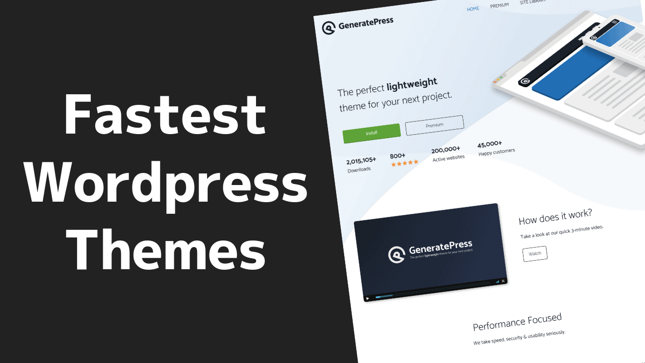 The Fastest WordPress Website Themes