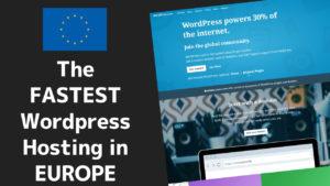 Fastest Wordpress Hosting in Europe 1 2020