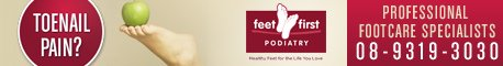 Feet First Podiatry - 468x60 resolution