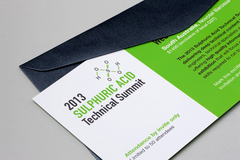 Professionally designed corporate event invitation