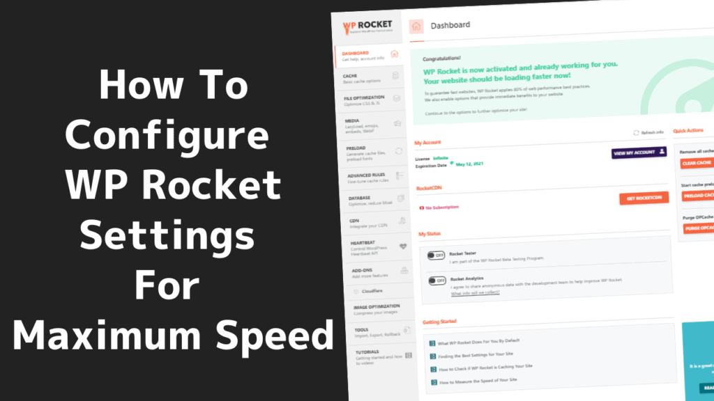 How To Configure WP Rocket Settings For Maximum Speed 3 2020