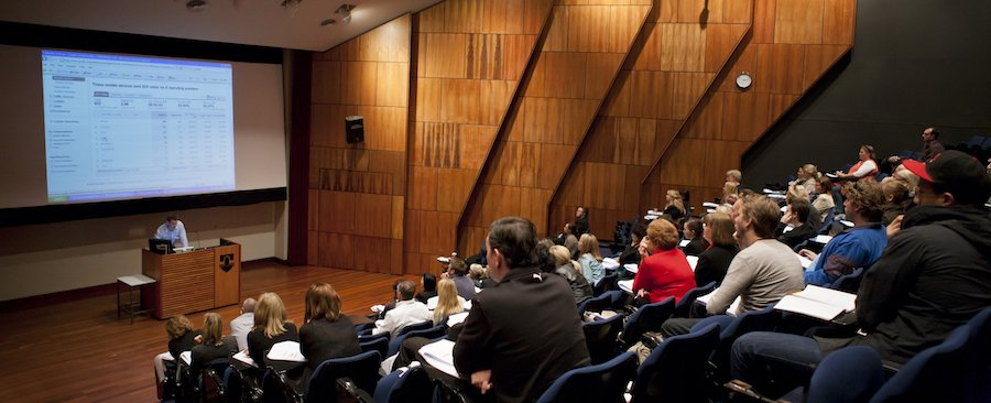 Talking business at one of our business workshops, this one was held at Murdoch University in Perth