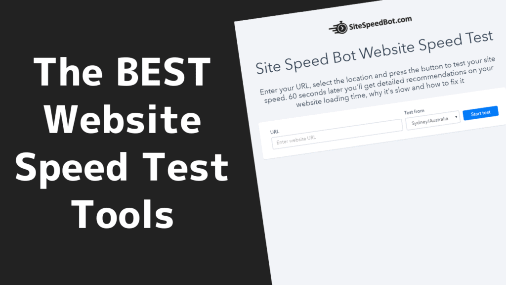 The BEST Website Speed Test Tools 3 2020