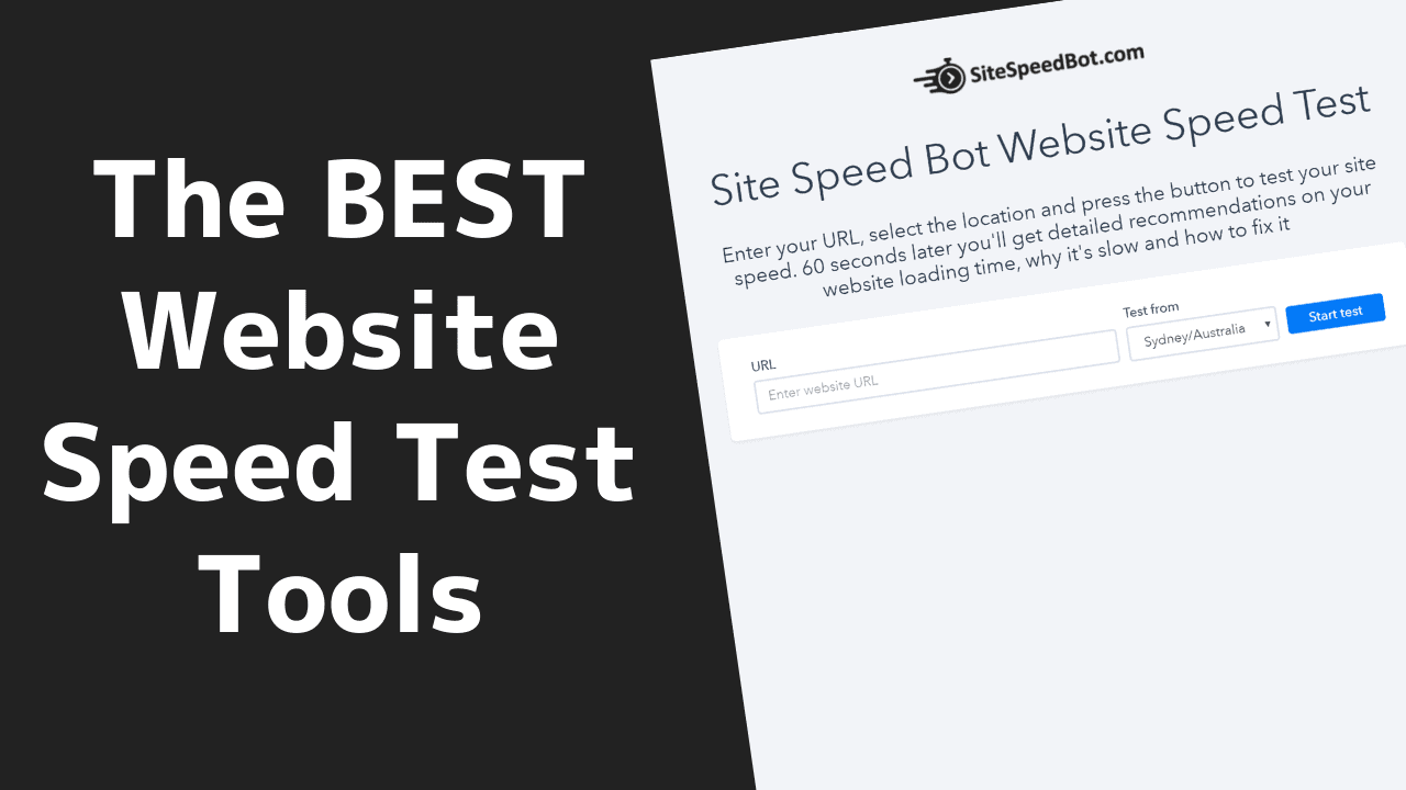 The BEST Website Speed Test Tools 30 2020