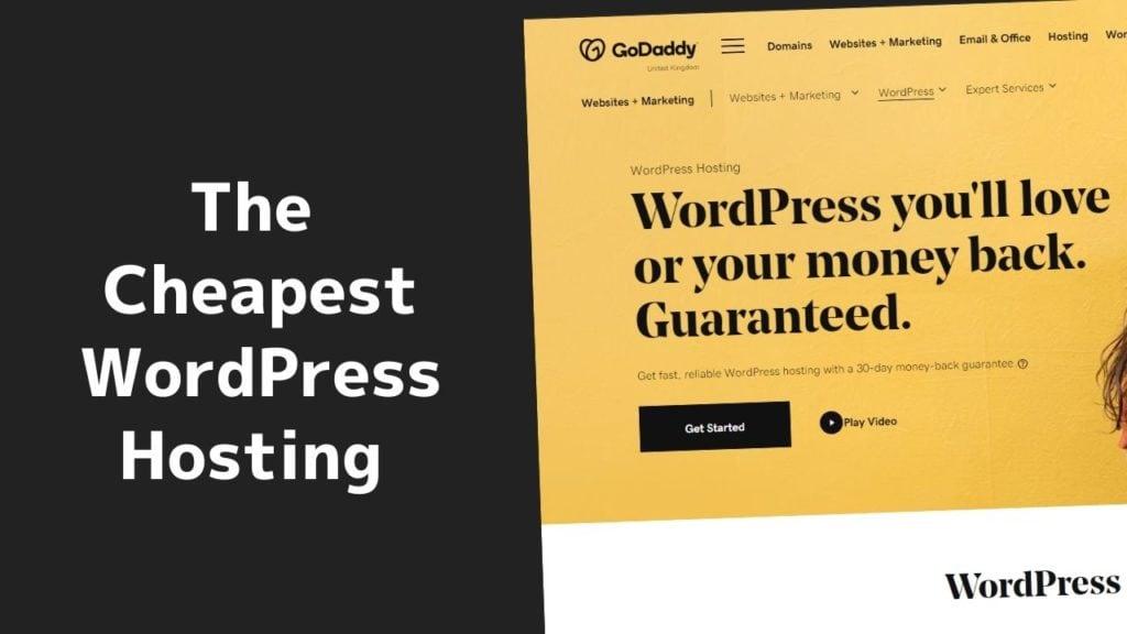 The cheapest WordPress hosting