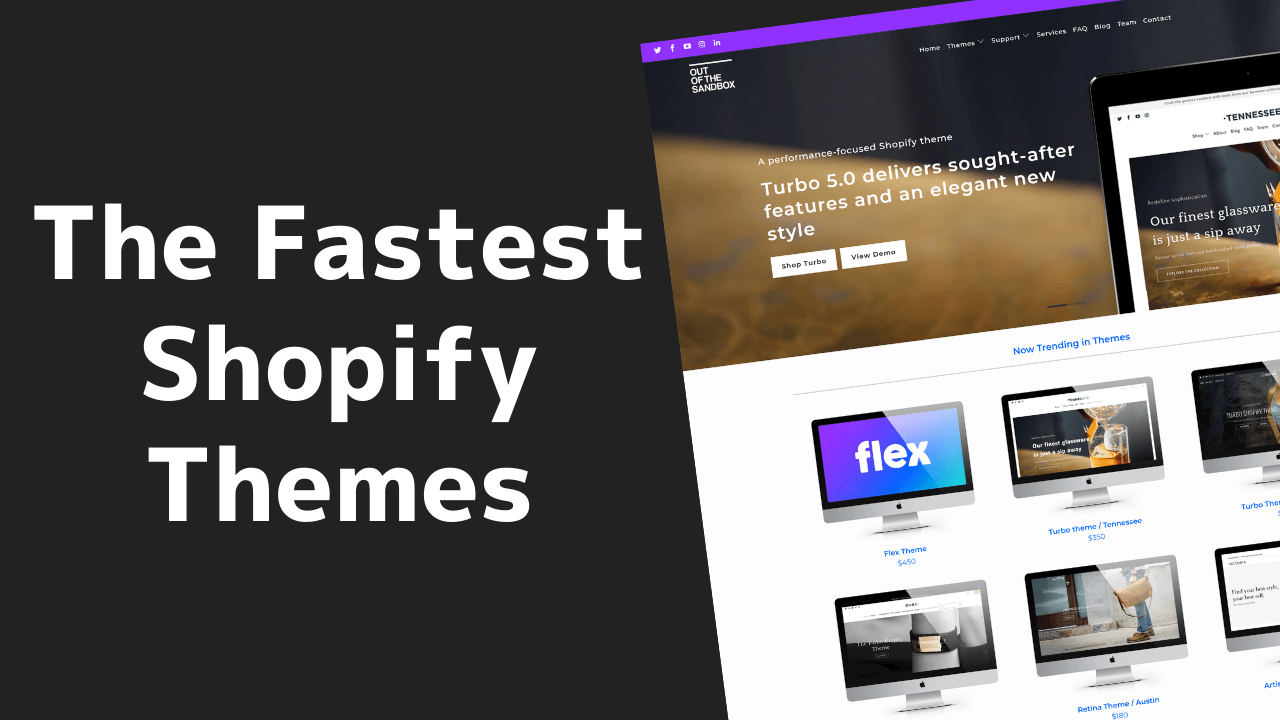The FASTEST Shopify Themes in 2020