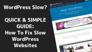 How to fix slow WordPress