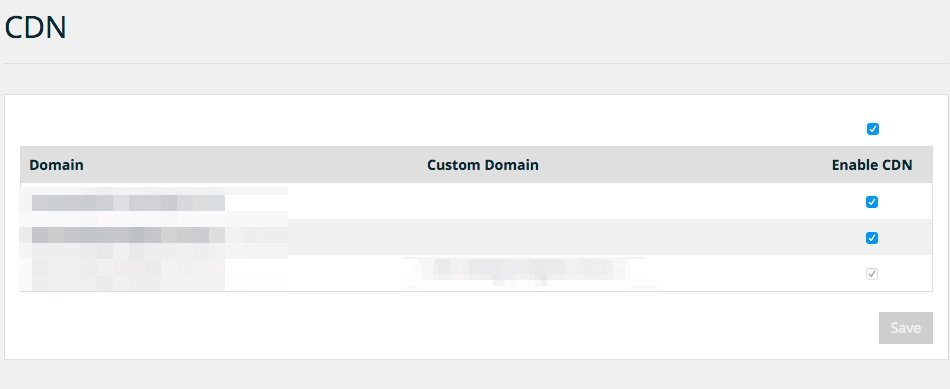The WPEngine CDN Options Screen - just a single click to enable the content delivery network