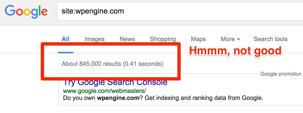 Wpengine SEO Problems